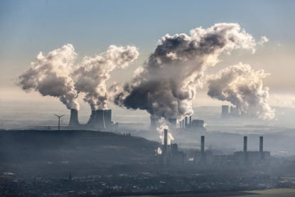 Coal power station air pollution