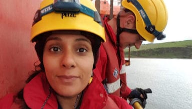 Greenpeace Climbers on BP Oil Rig