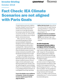 IEA fact check report cover