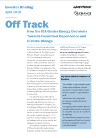 IEA off track report cover