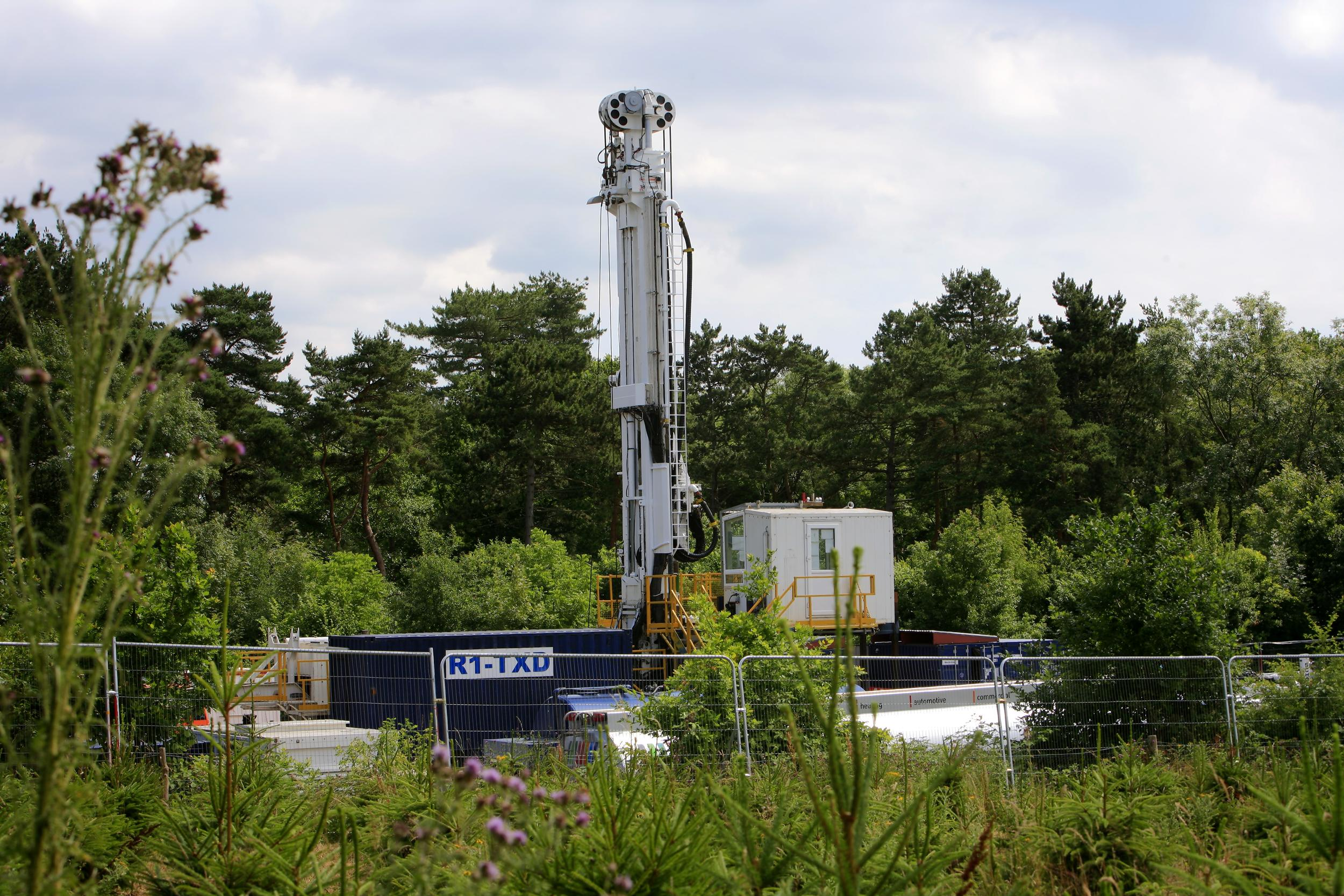 Engineering equipment at Cuadrilla's fracking site