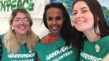 volunteers smiling