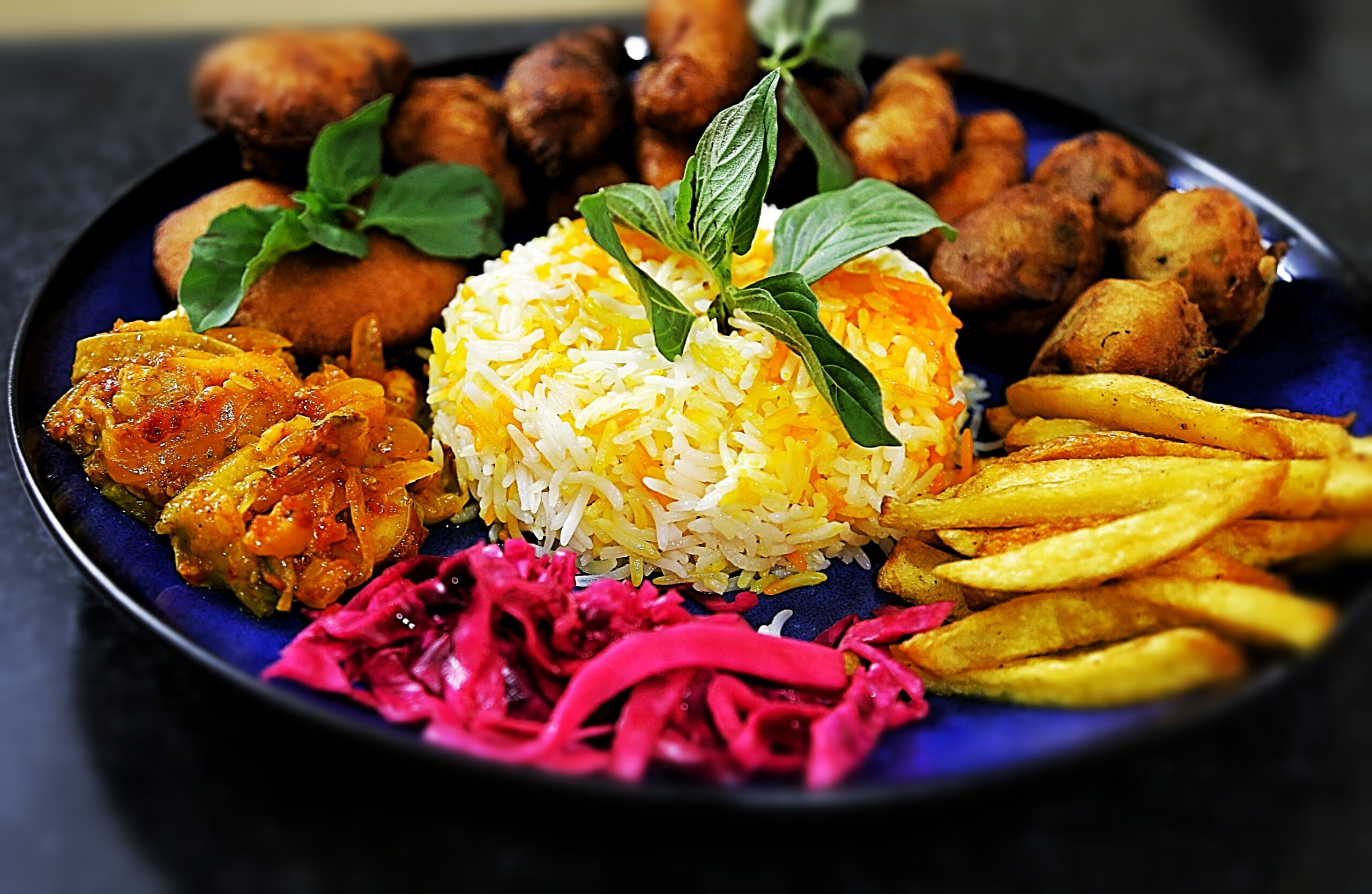 A colourful Indian dish