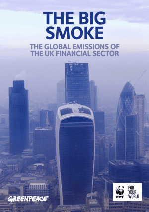 Report cover shows London skyscrapers shrouded in fog