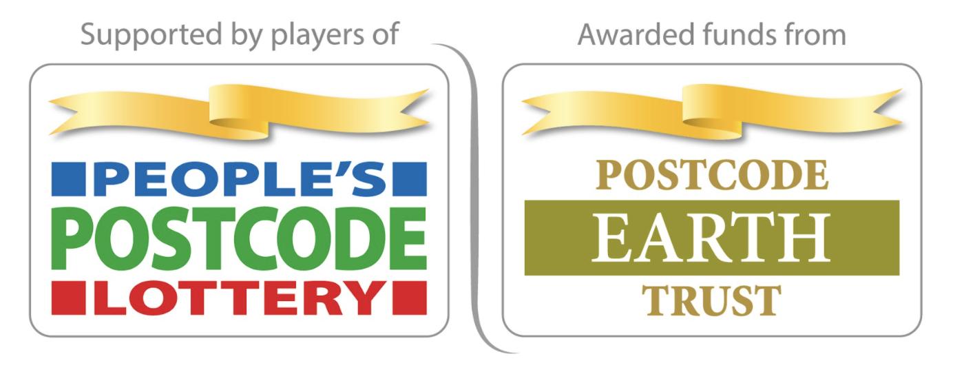 Logos: People's Postcode Lottery and Postcode Earth Trust