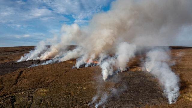 Peatland Burning on North York Moors UK